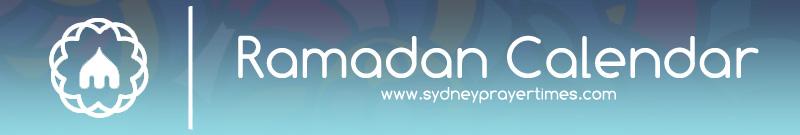 Sydney Ramadan Fasting Calendar 2019